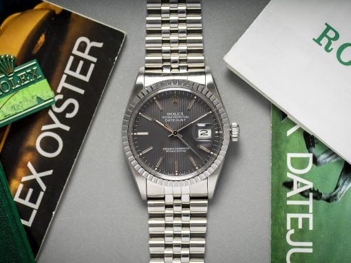 ROLEX 'TAPESTRY' DATEJUST B&P