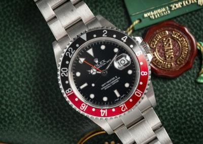 ROLEX GMT-MASTER 16710 B&P UNPOLISHED