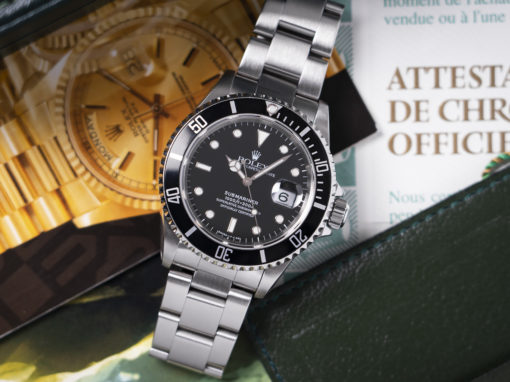 ROLEX SUBMARINER 16610 B&P