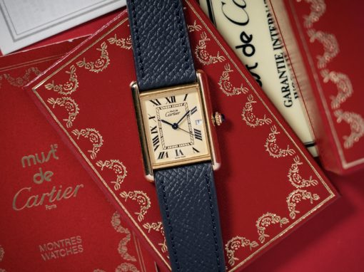 CARTIER TANK LEMON DIAL