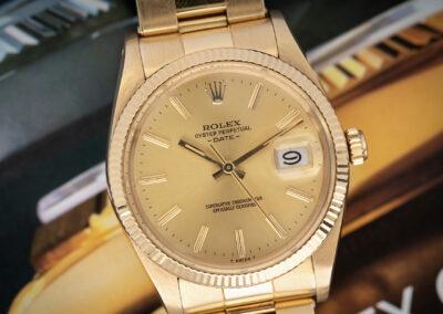 Rolex Date 18K. B&P Unpolished!